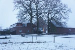 Winterblick auf unseren Hof